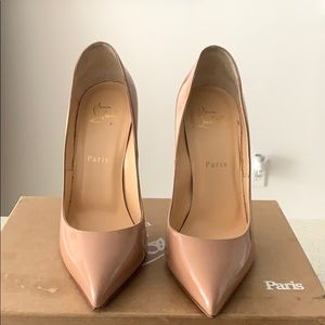 Nude Pigalle 120 Patent Calf Christian Louboutin